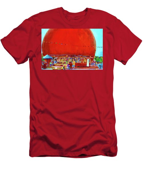 The Orange Julep Montreal Summer City Scene Men's T-Shirt (Slim Fit) by Carole Spandau