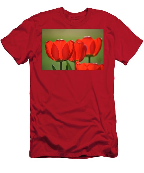 The Red Tulips Men's T-Shirt (Athletic Fit)