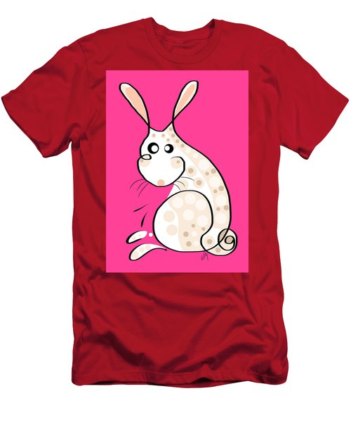 Thoughts And Colors Series Bunny Men's T-Shirt (Athletic Fit)