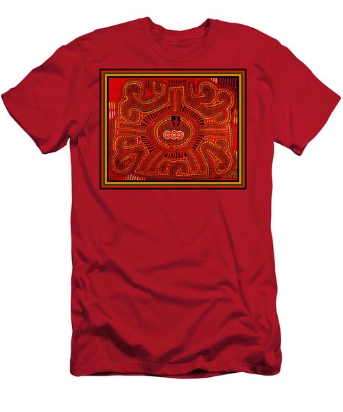 Men's T-Shirt (Slim Fit) featuring the digital art Three Layers Of The World by Vagabond Folk Art - Virginia Vivier
