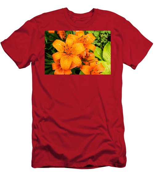Tiger Lily After Morning Rain Men's T-Shirt (Athletic Fit)