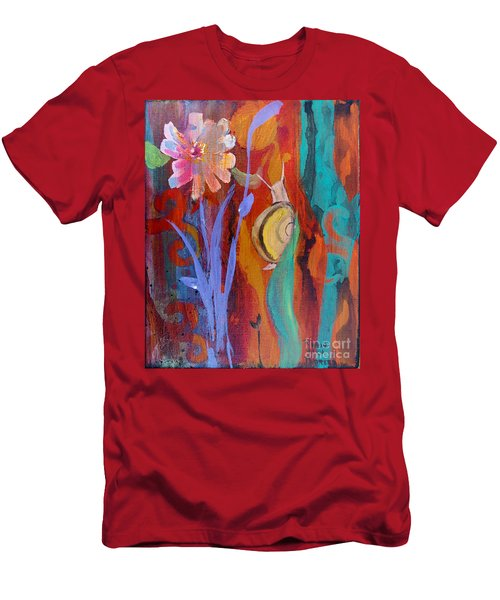 Men's T-Shirt (Slim Fit) featuring the painting Time Traveler by Robin Maria Pedrero