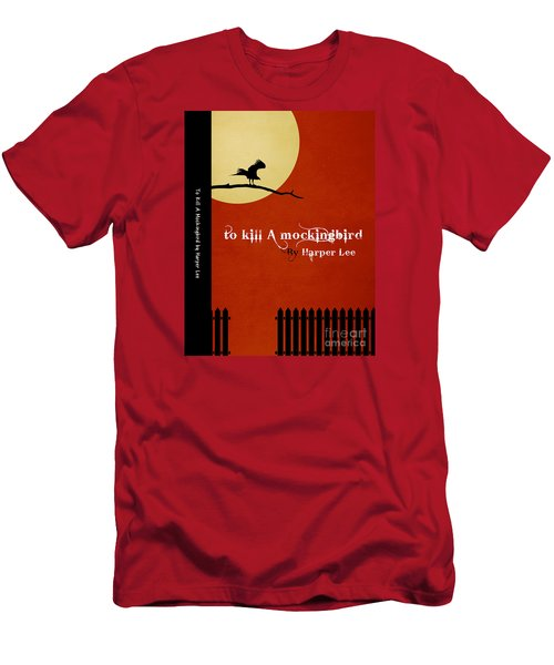 To Kill A Mockingbird Book Cover Movie Poster Art 1 Men's T-Shirt (Slim Fit) by Nishanth Gopinathan