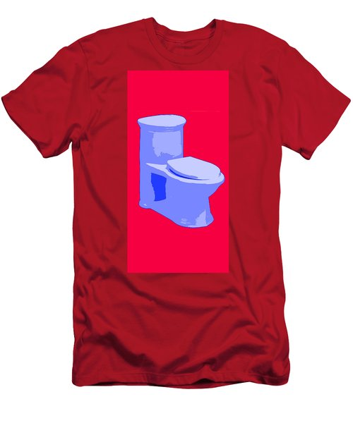 Toilette In Blue Men's T-Shirt (Athletic Fit)