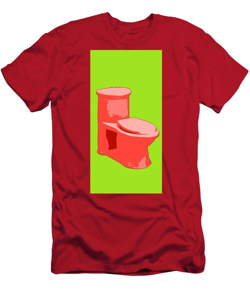 Toilette In Red Men's T-Shirt (Athletic Fit)