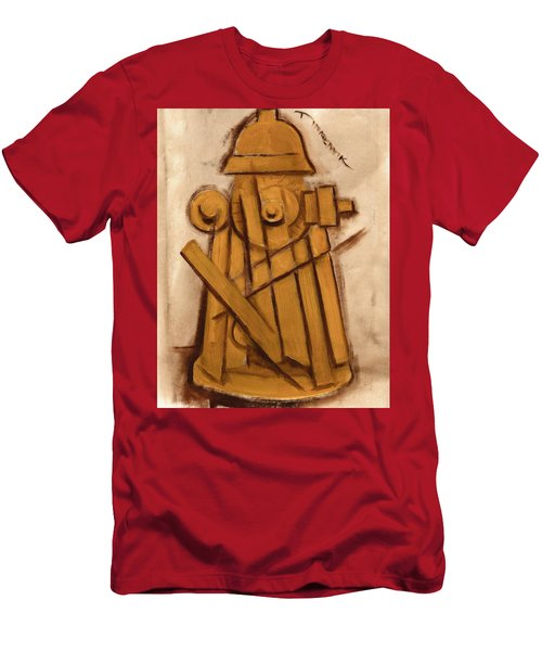 Abstract Fire Hydrant Art Print Men's T-Shirt (Athletic Fit)