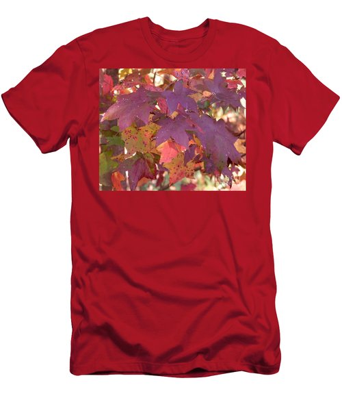 Men's T-Shirt (Slim Fit) featuring the photograph Traces Of Fall by Andrea Anderegg