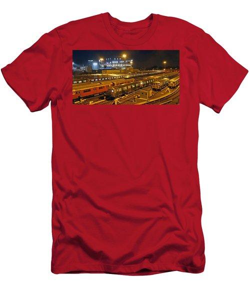 Trains Nyc Men's T-Shirt (Slim Fit) by Jeffrey Friedkin