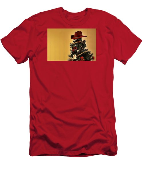 Men's T-Shirt (Slim Fit) featuring the photograph Tree Topper Texas Style by Nadalyn Larsen