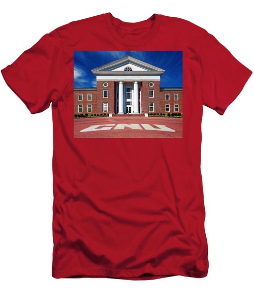 Trible Library Christopher Newport University Men's T-Shirt (Athletic Fit)