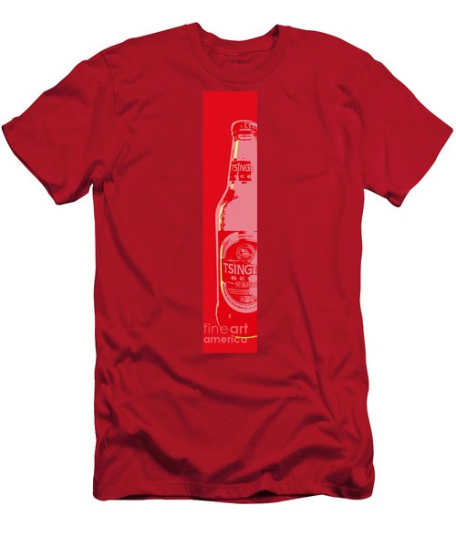 Tsingtao Beer Men's T-Shirt (Slim Fit) by Jean luc Comperat