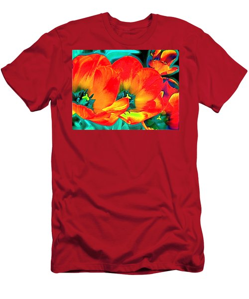 Men's T-Shirt (Slim Fit) featuring the photograph Tulip 1 by Pamela Cooper