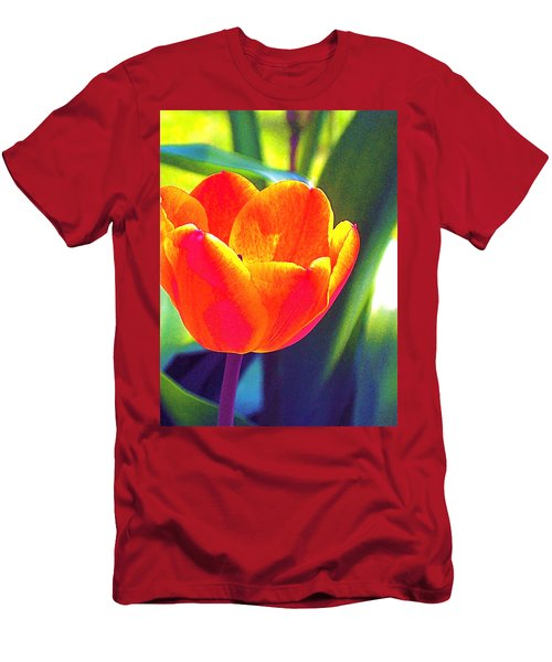 Men's T-Shirt (Slim Fit) featuring the photograph Tulip 2 by Pamela Cooper