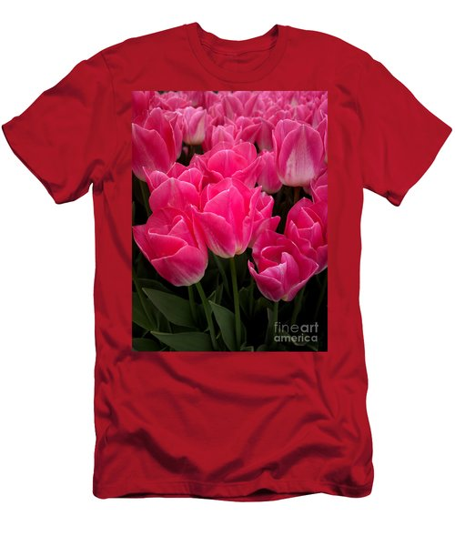 Men's T-Shirt (Slim Fit) featuring the photograph Tulip Festival - 19 by Hanza Turgul