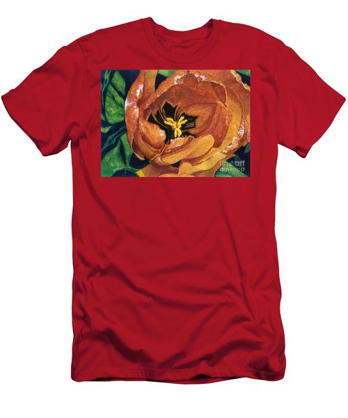 Men's T-Shirt (Slim Fit) featuring the painting Tulip Swirl by Barbara Jewell