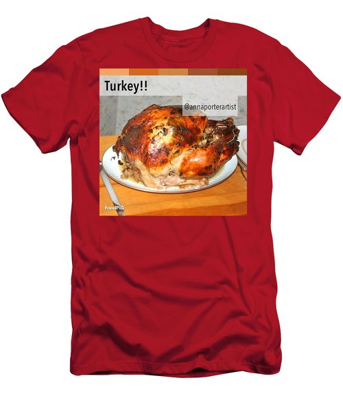 Turkey!! Cooked And Photographed By Men's T-Shirt (Athletic Fit)