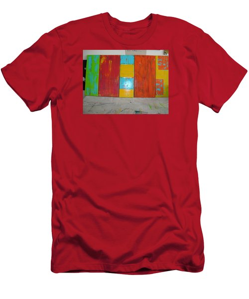 Men's T-Shirt (Slim Fit) featuring the painting Tuscany Seasons by Sharyn Winters
