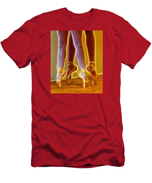 Ballet On Point Seond Position Men's T-Shirt (Athletic Fit)