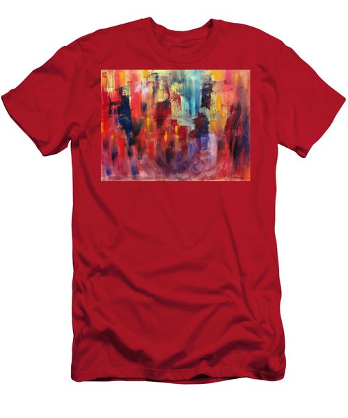 Men's T-Shirt (Slim Fit) featuring the painting Untitled #4 by Jason Williamson