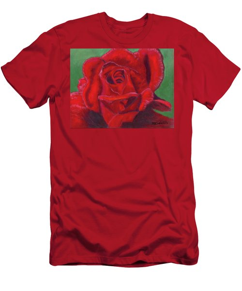 Very Red Rose Men's T-Shirt (Athletic Fit)