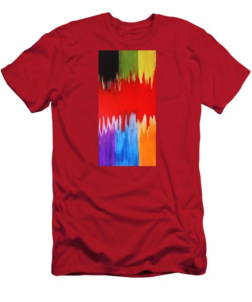 Men's T-Shirt (Slim Fit) featuring the painting Voice by Michael Cross