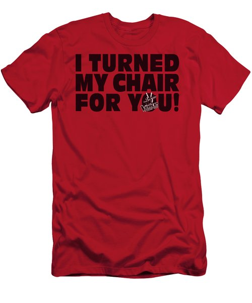 Voice - Turned My Chair Men's T-Shirt (Athletic Fit)