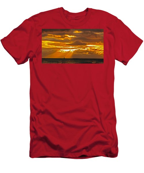 Waikiki Sun Set Men's T-Shirt (Athletic Fit)