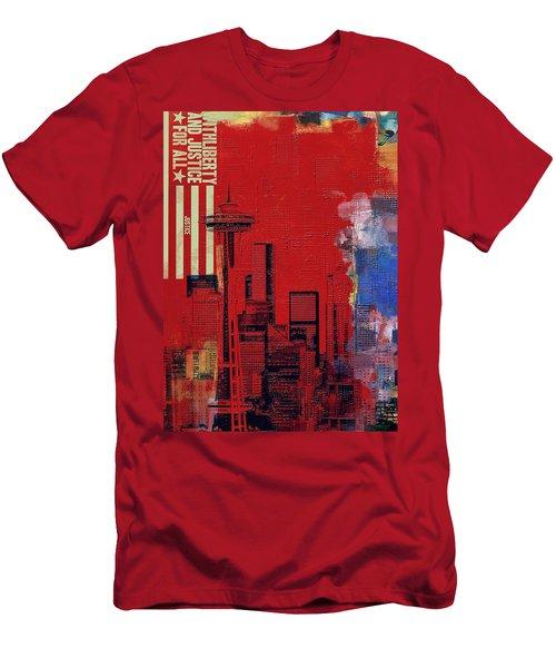 Washington City Collage 3 Men's T-Shirt (Athletic Fit)