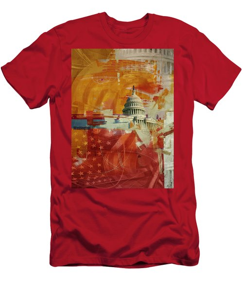 Washington City Collage 4 Men's T-Shirt (Athletic Fit)