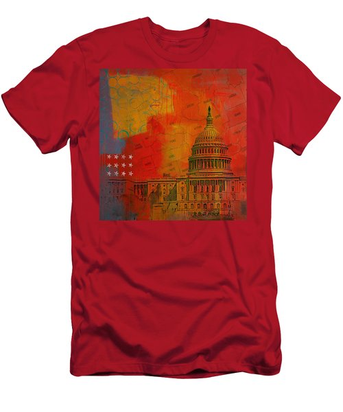 Washington City Collage Alternative Men's T-Shirt (Athletic Fit)