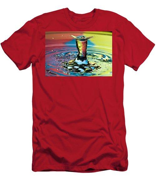 Water Splash Art Men's T-Shirt (Athletic Fit)