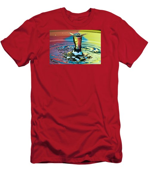 Water Splash Art Men's T-Shirt (Athletic Fit)