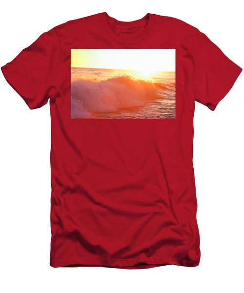 Waves In Sunset Men's T-Shirt (Athletic Fit)