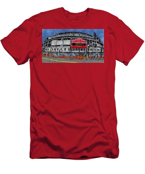 Welcome To Wrigley Field Men's T-Shirt (Slim Fit) by Phil Strang
