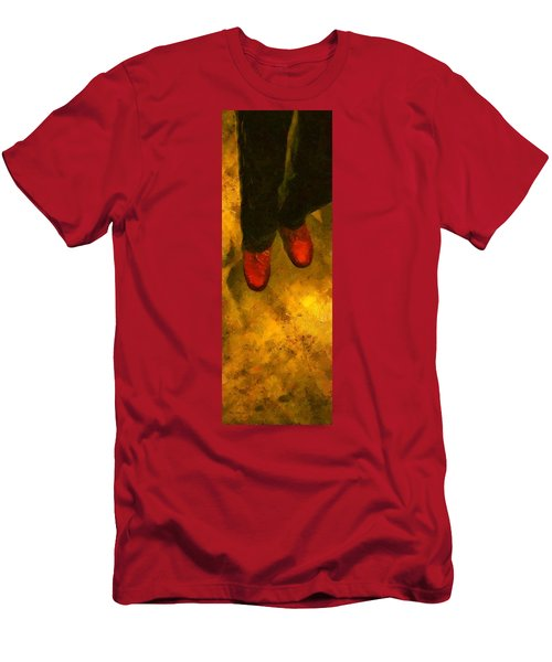 Witch Walking Men's T-Shirt (Athletic Fit)