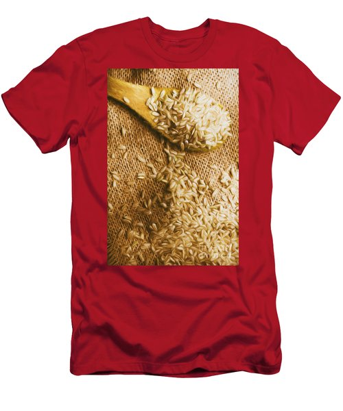Wooden Tablespoon Serving Of Uncooked Brown Rice Men's T-Shirt (Athletic Fit)