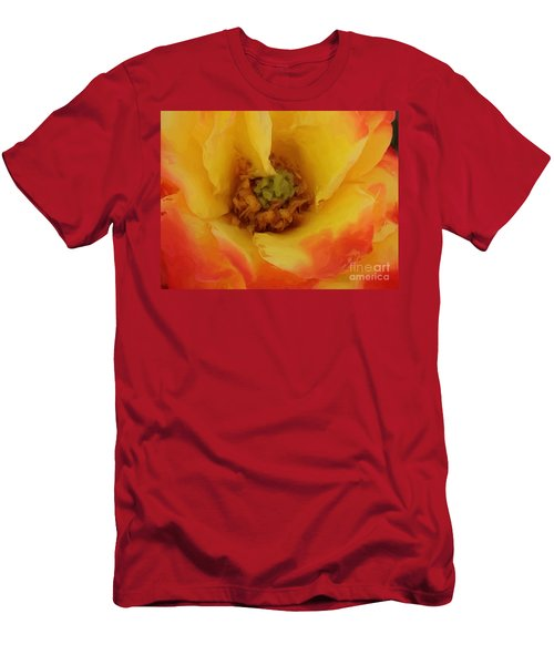 Yellow And Orange Rose Men's T-Shirt (Athletic Fit)