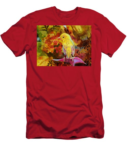 Yellow Bird Men's T-Shirt (Athletic Fit)