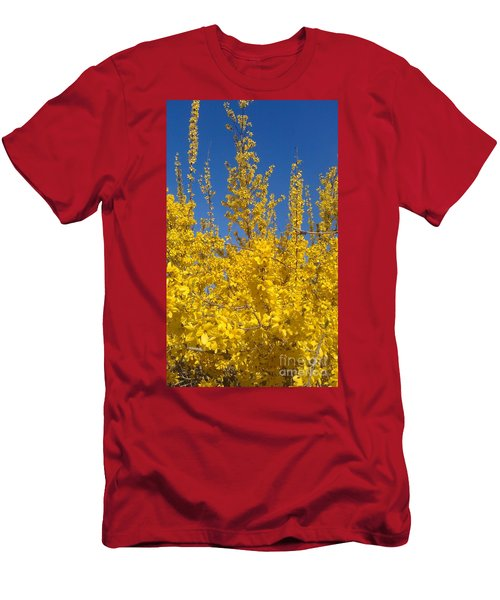 Yellow Explosion Men's T-Shirt (Athletic Fit)