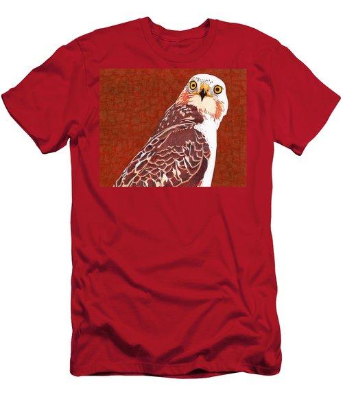 Yellow Eyed Hawk Men's T-Shirt (Athletic Fit)
