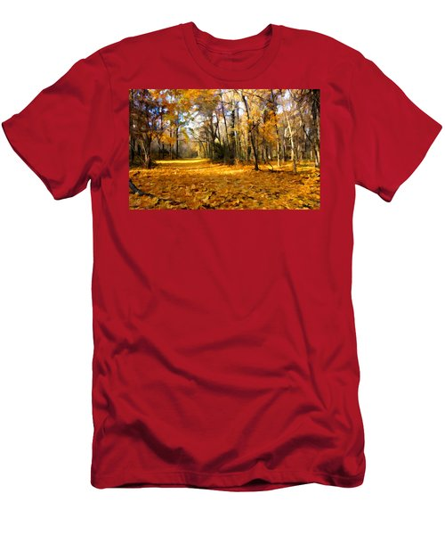 Yellow Leaf Road Men's T-Shirt (Athletic Fit)
