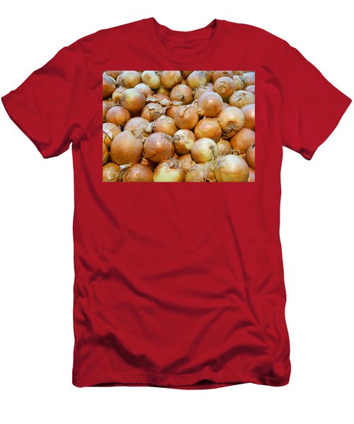 Men's T-Shirt (Slim Fit) featuring the photograph Yellow Onions by Emmy Marie Vickers