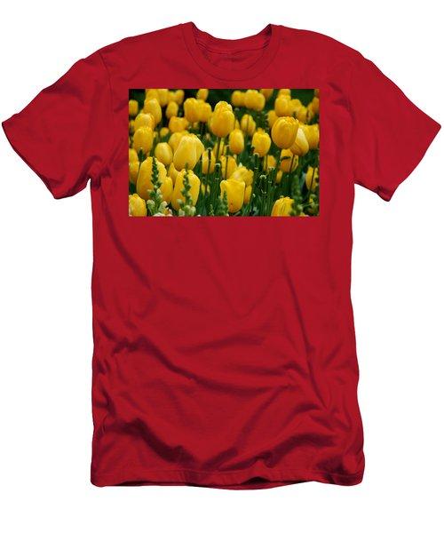 Yellow Tulip Sea Men's T-Shirt (Athletic Fit)