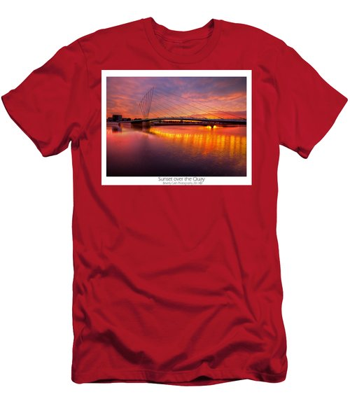 Sunset Over The Quay Men's T-Shirt (Athletic Fit)
