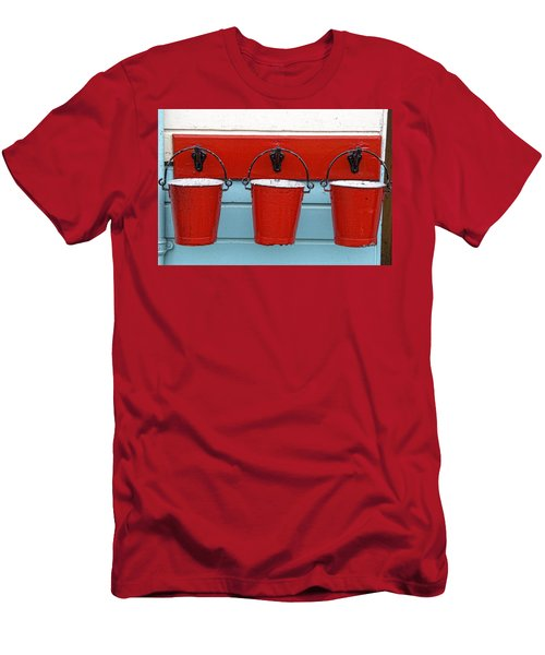 Three Red Buckets Men's T-Shirt (Athletic Fit)