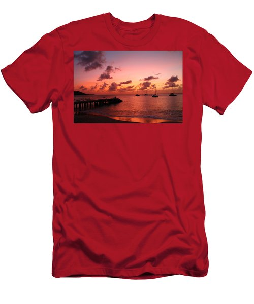 Men's T-Shirt (Slim Fit) featuring the photograph Sunset by Catie Canetti