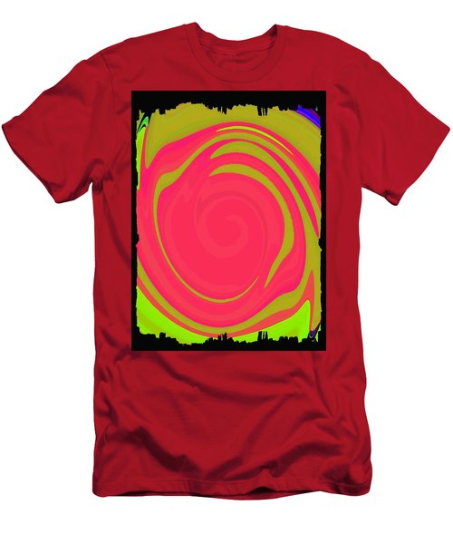 Abstract Color Merge Men's T-Shirt (Athletic Fit)