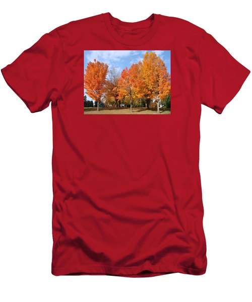 Men's T-Shirt (Slim Fit) featuring the photograph Autumn Leaves by Athena Mckinzie