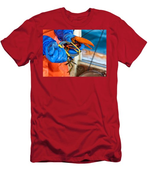 Banding An American Lobster In Chatham On Cape Cod Men's T-Shirt (Athletic Fit)