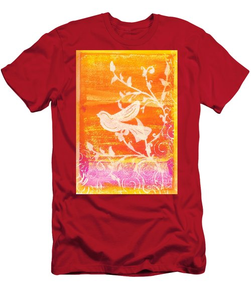 Bird In The Meadow Men's T-Shirt (Athletic Fit)